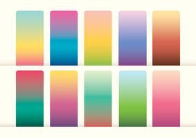 Gradient färgprov vektor