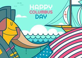 Glad Christopher Columbus Day vektor