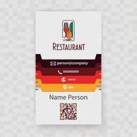 presentation av restaurangkort vektor