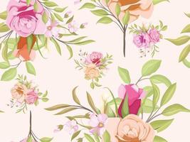 nahtloses Muster Blumenmuster für Modetextilien und Tapeten vektor