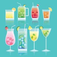 beliebte Getränke im Sommer vektor