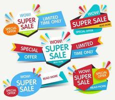 einfacher Superverkauf vektor