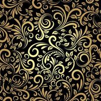 goldenes nahtloses Muster vektor