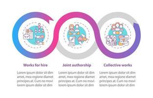 Infografik-Vorlage für Vektor des Urheberrechtsgesetzes