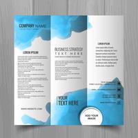 Abstrakter gewellter Geschäftsbroschürenschablonen-Designvektor