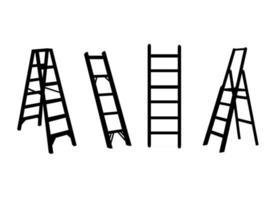 Sammlung von Leitersymbol lokalisiert auf weißem Hintergrund vektor