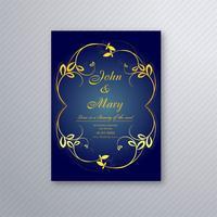 Blumenschablonendesign der abstrakten stilvollen Hochzeitseinladungskarte vektor
