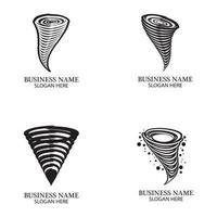 Tornadosymbolvektorillustration vektor