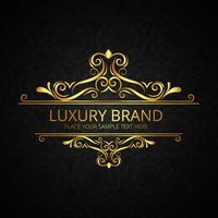 Glänzender Blumenentwurfsvektor der Luxusmarke vektor