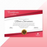 Zertifikat Premium-Vorlage Auszeichnungen Diplom Hintergrund Vektor