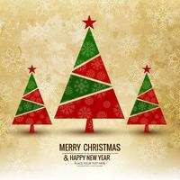 Bunter Hintergrundvektor der frohen Weihnachtsgrußkarte vektor