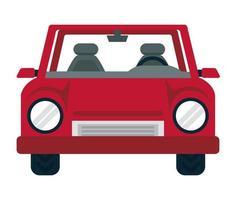 rote Autofront vektor
