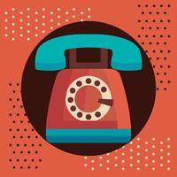altes Retro-Telefonwahlsymbol vektor