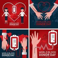 Blutspenderkartenkonzept vektor
