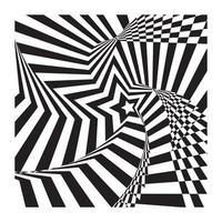 abstrakte spiralförmige Sternstreifen optische Illusion vektor