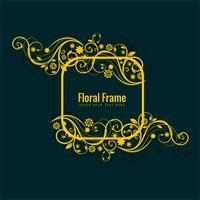 Abstrakt dekorativ blommig ram design vektor