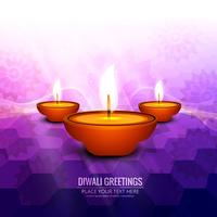 Glückliche diwali diya Öllampen-Festivalhintergrundillustration vektor