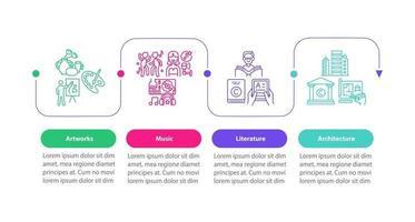 Vektor-Infografik-Vorlage für urheberrechtlich geschützte Elemente vektor