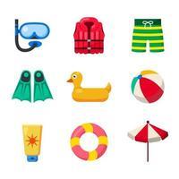 Pool Schwimmausrüstung Symbol vektor