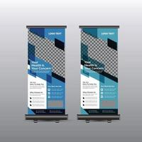 Rollup-Banner-Vorlage für das Gesundheitswesen vektor