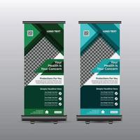 Rollup-Banner für das Gesundheitswesen vektor