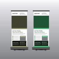 medizinisches Rollup-Banner-Design vektor