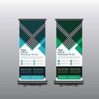 kreatives Rollup-Banner für das Gesundheitswesen vektor