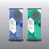 modernes Rollup-Banner für das Gesundheitswesen vektor