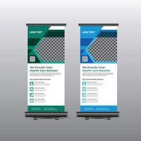 medizinisches Roll-up-Banner-Design für Krankenhaus vektor