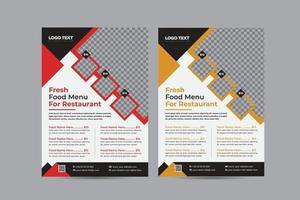 modernes Restaurantmenü-Design vektor