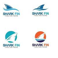 Haifisch-Logo-Vektorillustrationsentwurf vektor