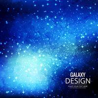Weltraum-Galaxie-Hintergrund mit Nebelfleck, Stardust und hellem Glänzen vektor
