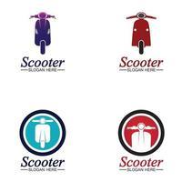 Moped Roller Logo Vektor-Symbol Illustration vektor