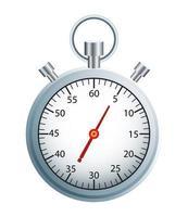 Timer Chronometer Silber isoliert Symbol vektor
