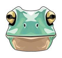 Frosch Tier Wildkopf Charakter Symbol vektor