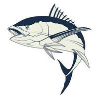 nautisches graues Element-Symbol des Thunfischs vektor