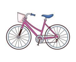 Retro-Fahrrad mit Korbsymbol vektor