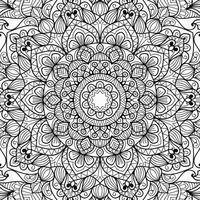 Gekritzel Mandala Zentangle Malbuch Seite Design für Erwachsene und Kinder dekorative Anti-Stress-Therapie entspannendes Muster Yoga Meditation Vektor-Illustration vektor