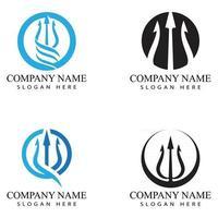Dreizack Logo Vorlage Vektor Symbol Illustration Design