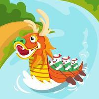 Drachenboot Festival Feier Konzept vektor
