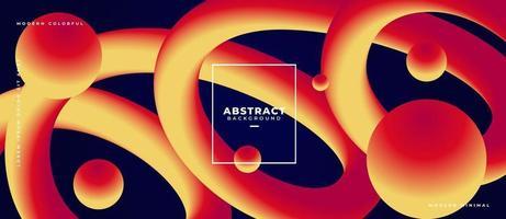 abstrakt 3d sfär som rör sig på krökt flytande form flytande bakgrund vektor