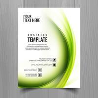 Modern stilfull broschyr kort mall vektor