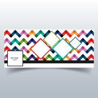Schöner bunter Muster Facebook Timeline-Fahnenvektor vektor