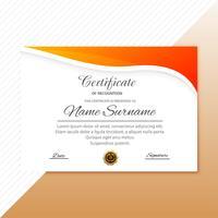 Zertifikatvorlage mit modernem Artdesign