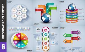 Infographic element data visualisering vektor design mall