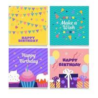 Alles Gute zum Geburtstag Kartensammlung vektor