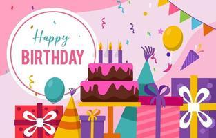 Alles Gute zum Geburtstag Feier Hintergrund vektor