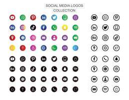 Social Media Logos und Symbol vektor
