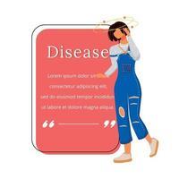 Krankheit flache Farbe Vektor Zeichen Zitat