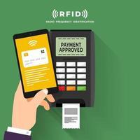 RFID-Illustrationsvektor vektor